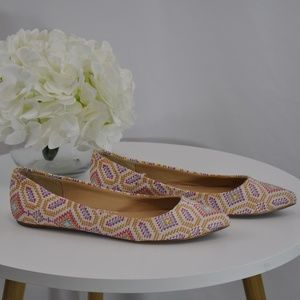 Joe's Shoes Pointy Toe Multicolor Flats - 6.5